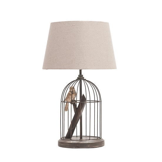 Resin & Metal Birdcage Table Lamp (Plug Type C)