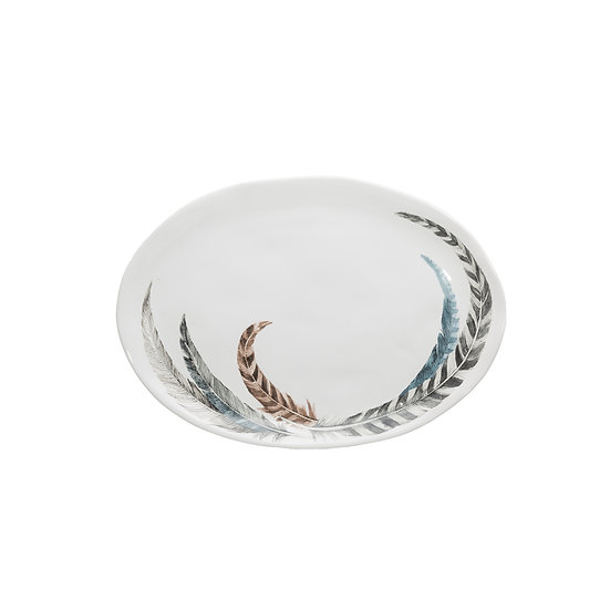 Dolomite Plate w/ Feather Decal
