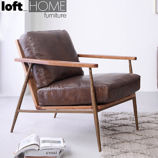 Genuine Leather Sofa Chair– HUMMER BRASS