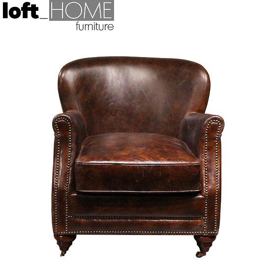 Full Genuine Leather Sofa Chair – PROFESSOR