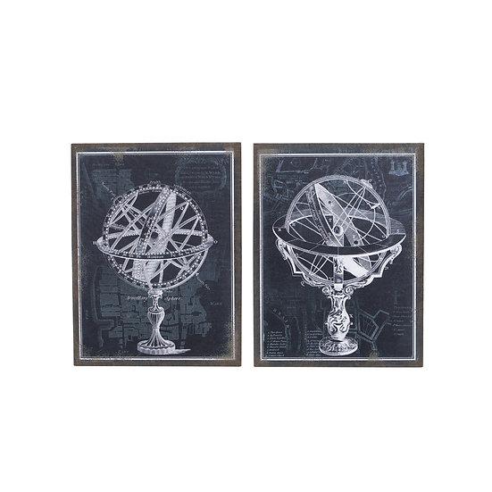 Canvas Globe Wall Art, 2 Styles