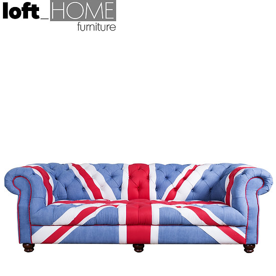 Fabric Chesterfield Sofa –Union Jack Denim