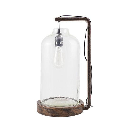 Viggo Pine & Glass Table Lamp