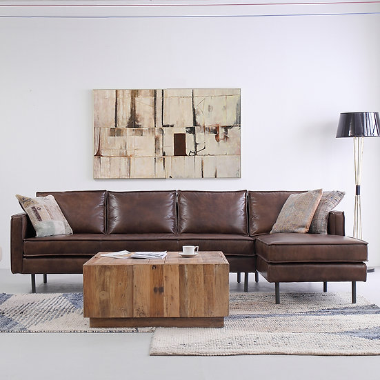 Genuine Leather L Shape Sofa – BELGIAN