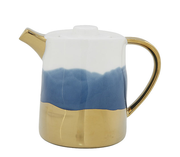 Porcelain Teapot w/ Reactive Glaze