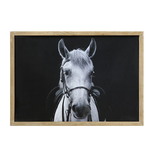 Painting – Wood Framed Wall Decor w/ Horse