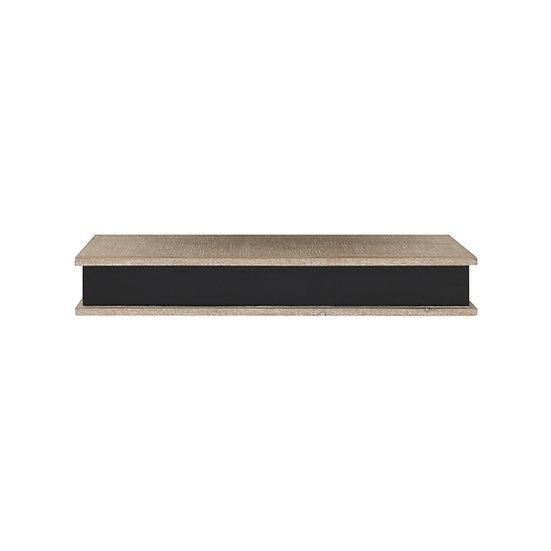 Medium Wood Wall Shelf w/ Chalkboard Front (Hangs or Sits)
