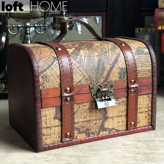 Vintage Suitcase / Trunk / Box – WORLD MAP