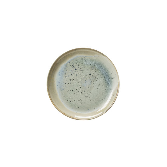 Porcelain Plate w/ Reactive Glaze