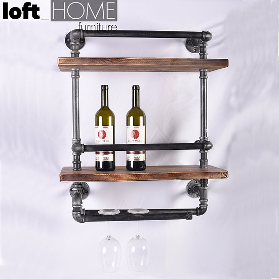 Wall Wine Shelf – Pipe