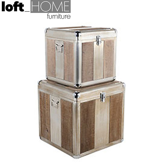 Cabinet Box / Side Table (2IN1 Set) - Wood