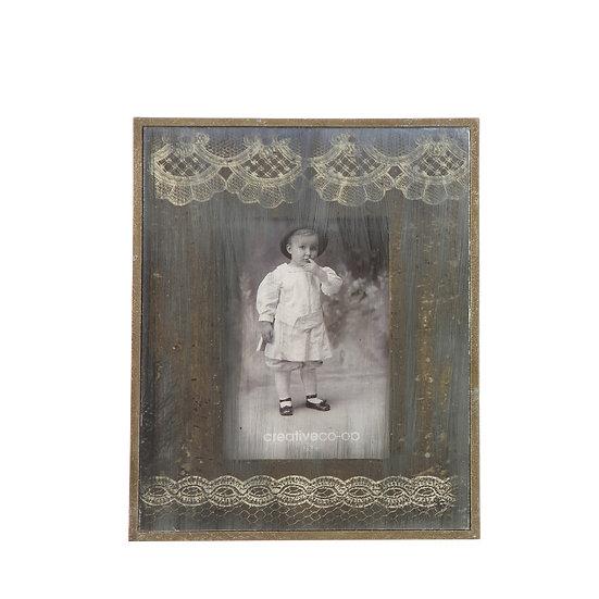 "5"" x 7"" Antique Mirrored Photo Frame"