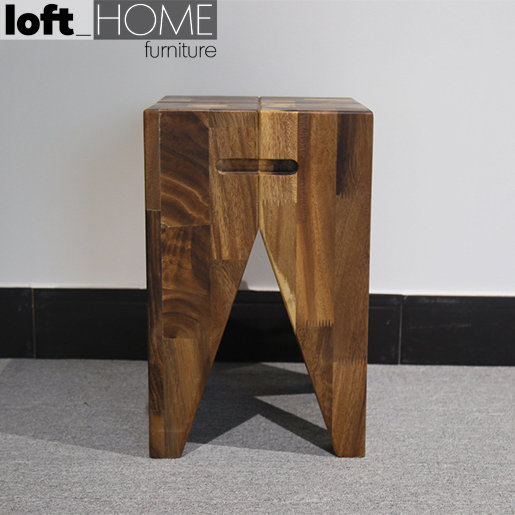 Dining Stool – Walnut Tooth