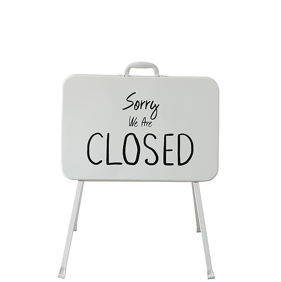"""Metal 2 Sided Standing Sign """" Open & Closed"""""""