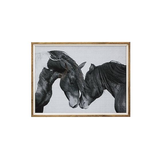 Fir Framed Wall Art w/ Horses