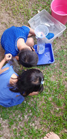 Helping each other to check their water