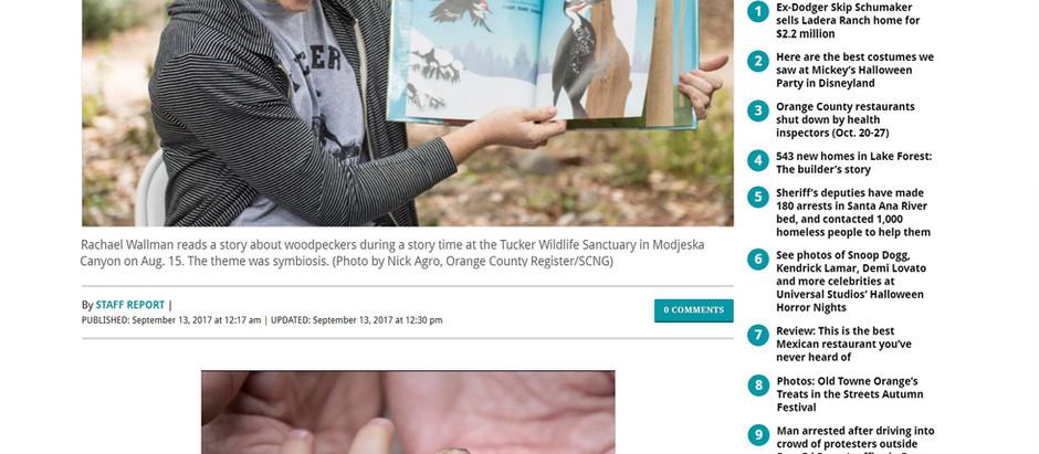Tucker Wildlife Sanctuary Story Time - OC Register News Article