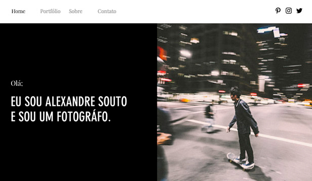 Fotografia website templates – Portfólio de Fotografia do Cotidiano
