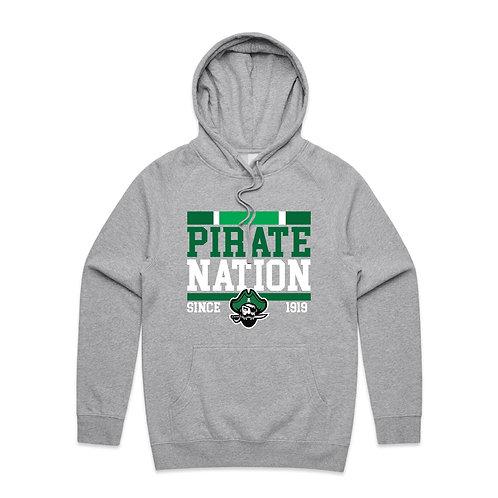 Grey Pirate Nation - Hoody