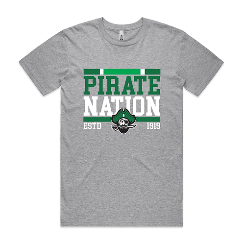 Grey - Pirate Nation Tee