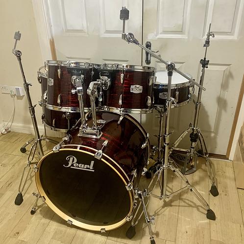 Fully Refurbished Pearl EXR Drum Kit (Red Strata)