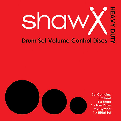 Shaw Drum Silencer Set - Complete Drum Kit (Rock)
