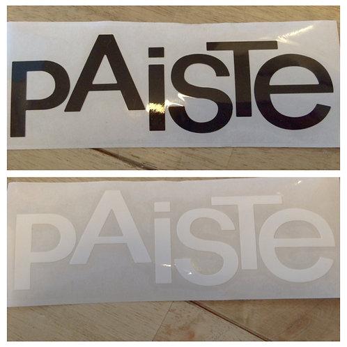 Paiste Logo Decal (Black or White)