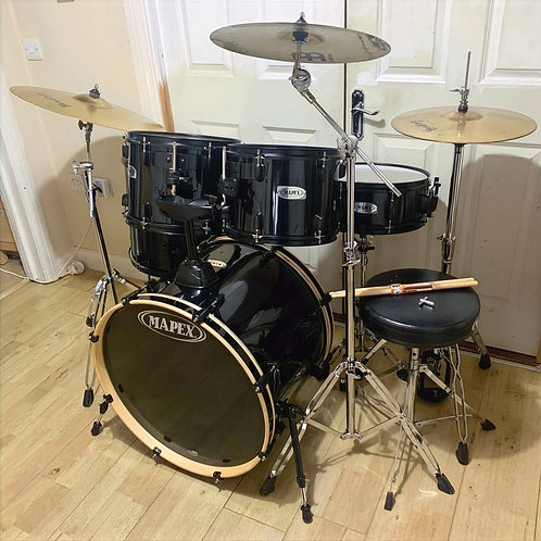 Fully Refurbished Mapex QR Drum Kit with Cymbals