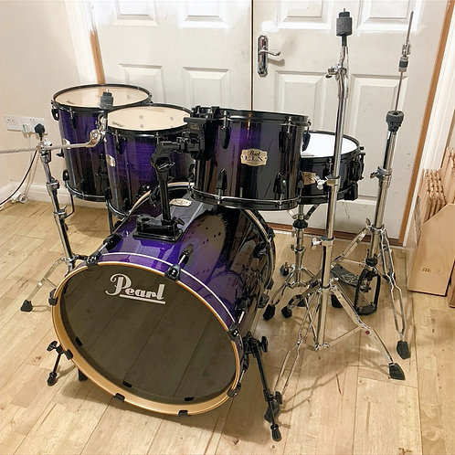 Fully Refurbished Pearl ELX (Export) Drum Kit - Cobalt Fade Lacquer