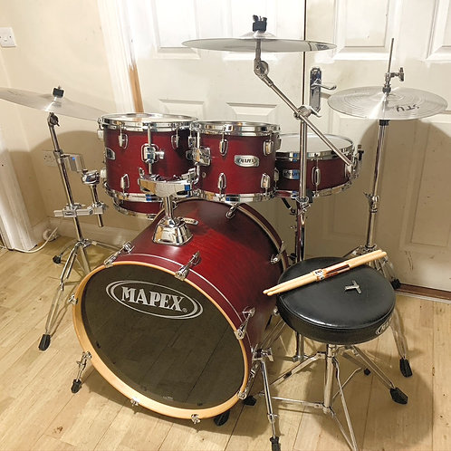 Fully Refurbished Mapex V Series Drum Kit with Centent Cymbals