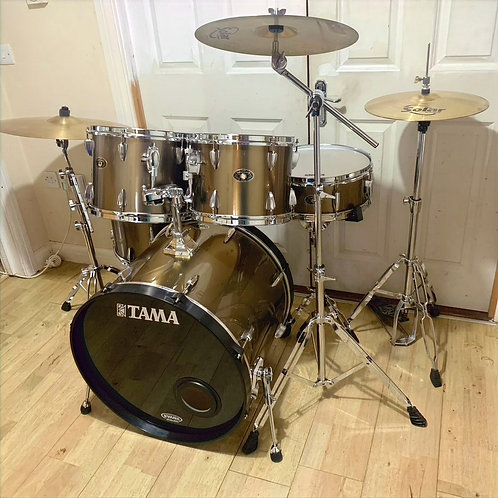 Fully Refurbished Tama Imperialstar Drum Kit with Cymbals