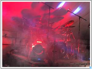 Dave Harris playing drums