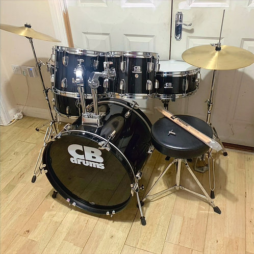 "Fully Refurbished 20"" CB Drum Kit with Cymbal Set"