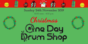 Christmas One Day Drum Shop banner