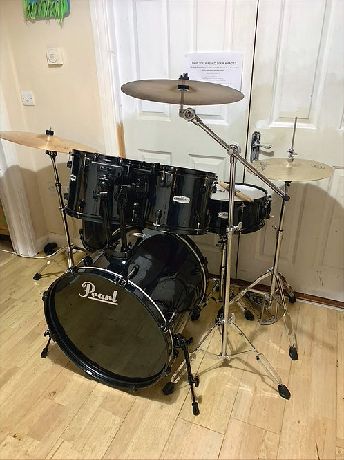 Fully Refurbished Pearl Forum Drum Kit with Cymbals
