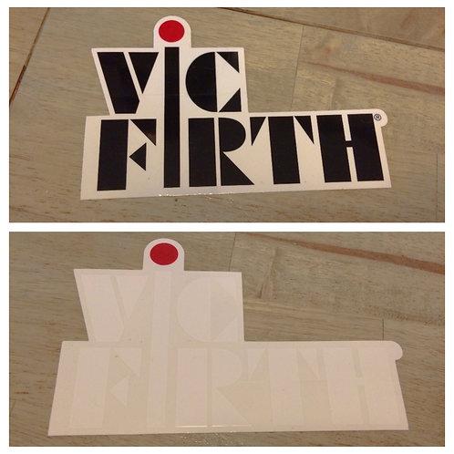 Vic Firth Logo Decal Black or White