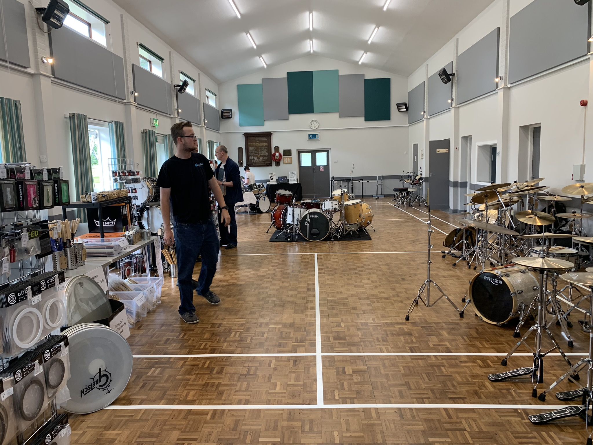 Setting up the event, August 2019