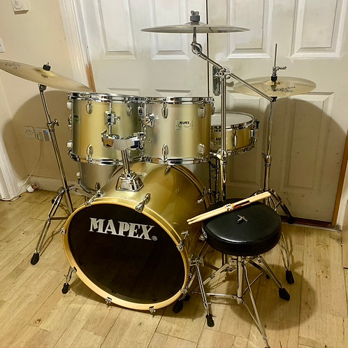 Fully Refurbished Mapex V Series Drum Kit with Cymbals