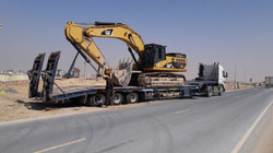 Shifting of Excavator by Lowbed