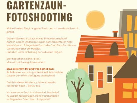 Gartenzaun-Fotoshooting