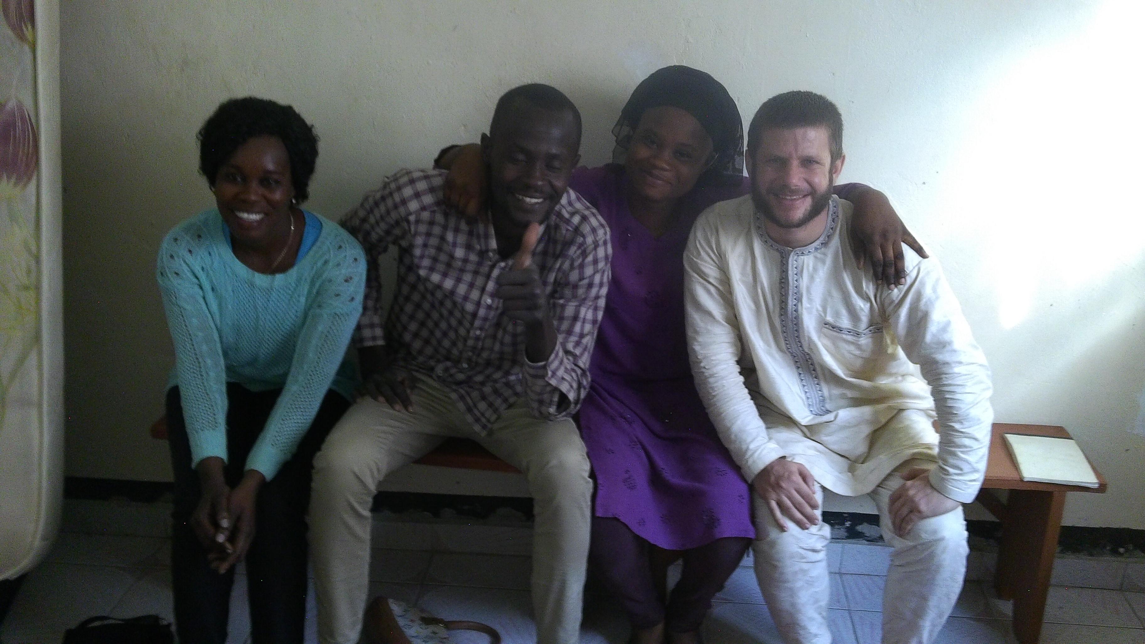 Avec les frères et soeurs de l'étude biblique à Moursal