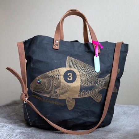 Rennfisch schwarz /bronze mit Schultergurt
