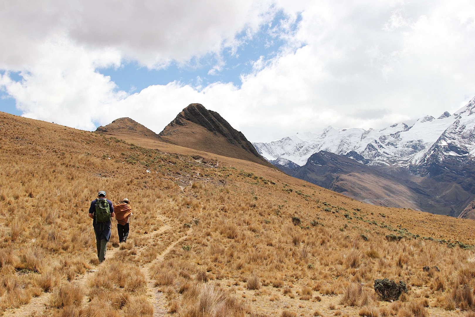 Hiking through the Andes in Bolivia.
