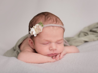 Central NJ baby photography newborn girl