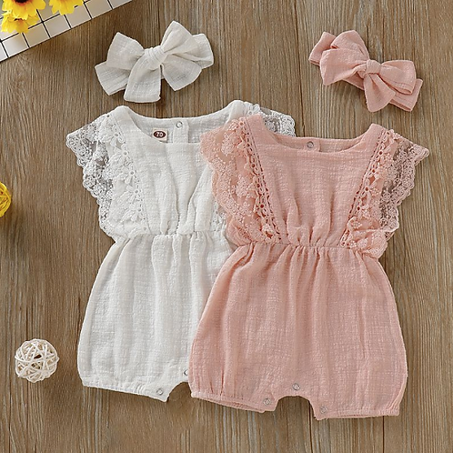 Baby Girl Rompers Newborn Baby Clothes Toddler Flare Sleeve