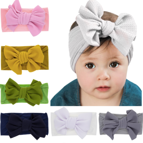 Toddler Baby Kid Girls Big Bow Headband Hairband Headwear