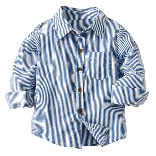 Baby Boys Casual Shirts Baby Kids Clothes Children Striped Long-sleeved Shirts