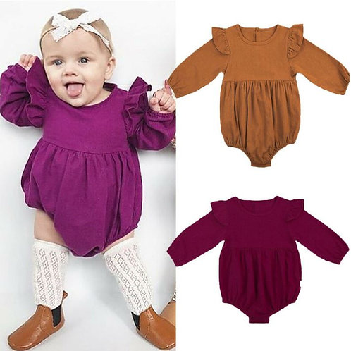 Baby Girls Clothing Autumn Long Sleeve Cotton Romper Toddler Kids Playsuit
