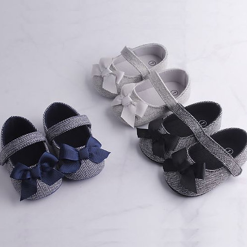 Baby Girl Shoes Bowknot Anti-Slip Soft Sole Hook First Walkers Toddler