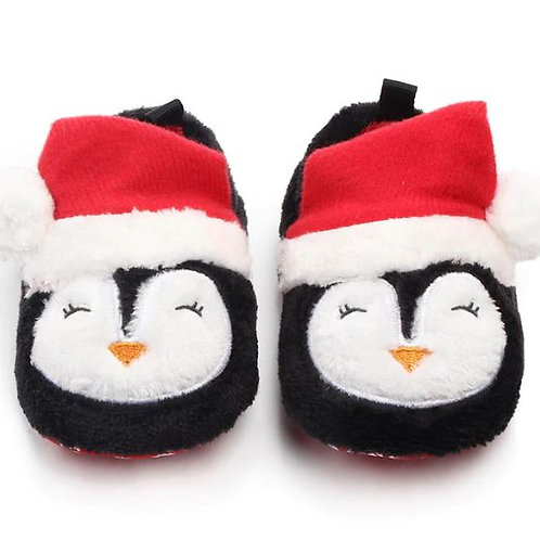 Toddler Shoes Solid Xmas Baby Socks Prewalkers Booties Cotton Winter Soft Warm
